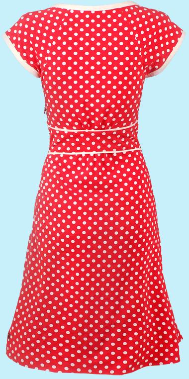 Wickelkleid rot gepunktet